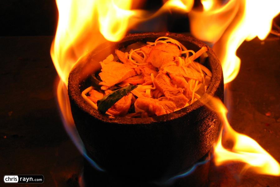 Stone pot soup at the Dunhuang night market