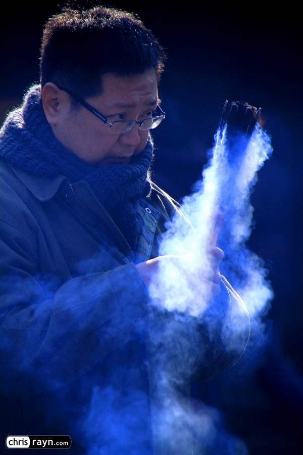 With smoky incense, steaming ahead in the New Year