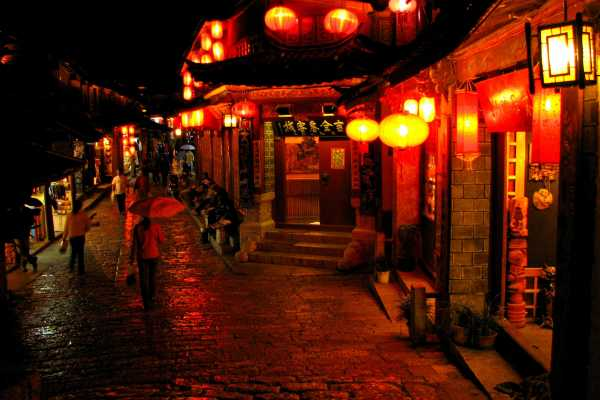 Red Lanterns in the Lijiang Old Town